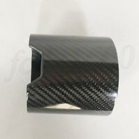 Gloss Carbon Fiber Car Exhaust Tip Shell Cover Sheath Muffler Pipe Guard 93mm IN