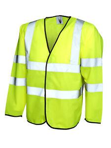 Long Sleeve Safety Waist Coat UC802 Yellow Large