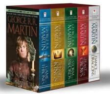 GAME OF THRONES by George RR Martin LARGE TRADE PAPERBACK BOXED SET Books 1-5
