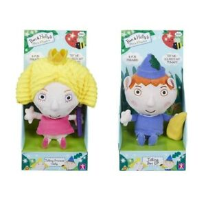 New Ben & Holly's Little Kingdom - BOTH Talking Holly and Ben Soft Plush Toys