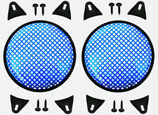 """2X Blue 12"""" inch Sub Woofer Speaker Mesh WAFFLE GRILLS Protective Covers VWLTW"""