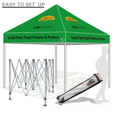 10X10 Outdoor Custom Logo Art Printed Pop Up Canopy Party Trade Show Gazebo Tent