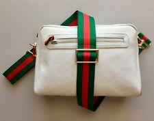 GUCCI Vintage Small WHITE Micro GG Monogram Crossbody BAG PURSE w/ CUSTOM STRAP