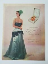 1946 Dana 20 carats perfume women's evening gown vintage Rawlings photo ad