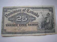 Canada 25 cents banknote 1900