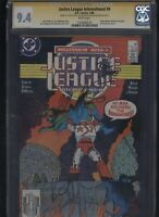 Justice League #9 CGC 9.4 3x SS Giffen & DeMatteis & Maguire 1988