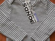 BONDS Baby Boy Girl Stripe Dark Navy Tee Top Size 000 Fits 0-3m NEW