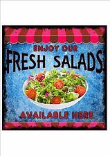 American Vintage Style Diner Sign Cafe Sign Salad Retro Style  Kitchen Sign
