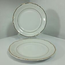 Vtg WAWEL Casa Oro BREAD & BUTTER Plate White GOLD TRIM from Poland Replacement
