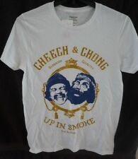 CHEECH AND CHONG Up and Smoke Los Angeles Men's White Tee T-Shirt Small NWT