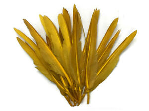 1/4 Lb. Antique Gold Duck Pointer Primary Wing Wholesale Feathers Bulk Halloween