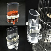 2Pcs Bird Cage Auto Water Bottle Parrot Cockatiel Food Hanging Dispenser Feeder