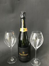 Veuve Clicquot Extra Brut Extra Old Champagner Flasche 0,75l 12% Vol + 2 Gläser