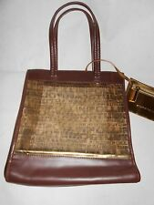 New Studio Pollini brown bag with a small gold purse RRP £195