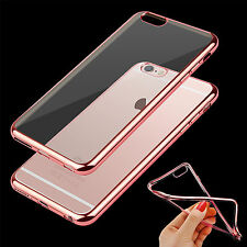 Clear Gel Silicone Hard Bumper Case Cover For Apple Iphone 6 6S 7 plus 5 SE