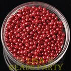 New 500pcs 4mm Round Czech Glass Pearl Loose Spacer Beads Red