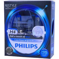 H4 PHILIPS ColorVision BLAU - Styling - Scheinwerfer Lampe DUO-Pack-Box NEU