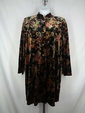 Coldwater Creek Floral Velvet Duster Jacket Size Large