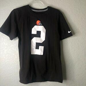 Cleveland Browns NFL Johnny Manziel # 2 Graphic / Jersey Nike T-shirt  Sz S EUC
