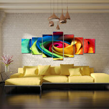 COLOURFUL ROSE - EXTRA LARGE SPLIT FRAMED CANVAS PRINTS ! Modern Exclusive Art