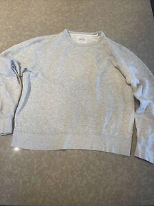 J Crew Vintage Fleece Mens Gray Sweater Large
