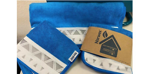 NORWEX MARINE BLUE TOWEL SET with BATH TOWEL HAND TOWEL BODY AND FACE CLOTH