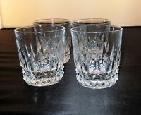 Heavy Crystal Old Fashioned Glasses set of four