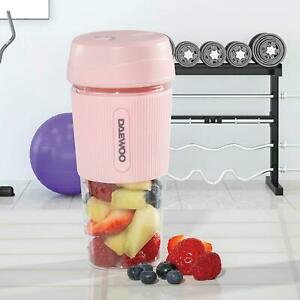 Portable Rechargeable Smoothie Blender Pink Cup 300ml