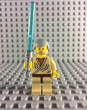 LEGO STAR WARS -- OBI WAN KENOBI (OLD) MINIFIGURE W BLUE LIGHTSABER FROM 7110