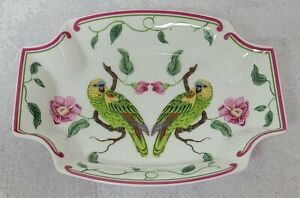"""Lynn Chase Parrots of Paradise Vegetable Serving Bowl, 8 1/4"""" w/ Original tags"""