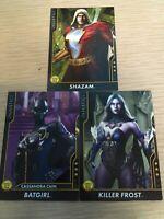 Injustice Cards Arcade Game Rare 3-Mystery Characters Shazam Batgirl Killer Frst