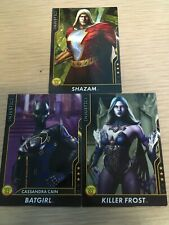 Injustice Cards Arcade Game Rare 3-Mystery Characters Shazam Batgirl Killer Frst