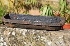 Small Victorian Cast Iron Trough Garden Bird Feeder Planter old vintage pot
