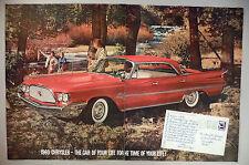 Chrysler Saratoga 2-Page PRINT AD - 1960