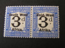 """S.W.AFRICA, SCOTT # J6(PAIR) 1923 POSTAGE DUE OVERPRINTED """"S.W.A"""" ISSUE MH"""