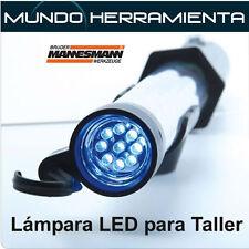 LAMPARA LED PARA TALLER MARCA MANESMANN CON CARGADOR DE COCHE Y DE RED