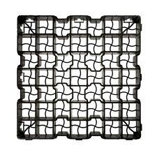Plastique noir pavage driveway grille Gazon Sol Drainage Gravier Protecteur mat