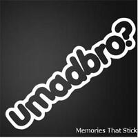 2X UMADBRO Funny Car Van Window Bumper JDM VW VAG EURO Vinyl Decal Sticker
