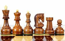 "Golden Rose Wood Zagreb Staunton Wooden Chess Set Pieces King size 4"" with Box"