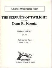 PROOF DEAN KOONTZ - THE SERVANTS OF TWILIGHT - DARK HARVEST