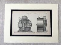 1880 Antico Ingegneria Stampa Gasometer Industriale Gas Metro Equipment