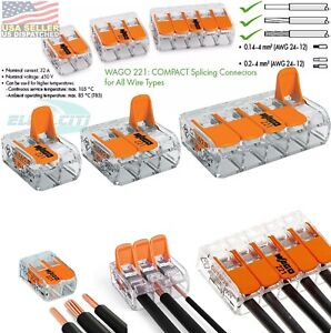 Wago Transparent 2,3,5 Splicing Wire Connector, Lever-Nuts Terminal Block 10PCS