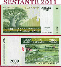 MADAGASCAR - 2000 2.000 ARIARY nd 2008 HIBRID SUBSTRATE - P 90b - FDS / UNC