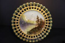 "Vintage - Decorative Wall Plate - Landscape - Moutains & Stream - 8.5"" Scalloped"