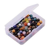 100 Stück Spacer Perlen zum Auffädeln Basteln Schmucksteine Edelsteine