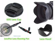 FP15u Lens Hood + EOS Cap + LensPen for CANON EOS 400D 450D 500D 550D 18-55mm