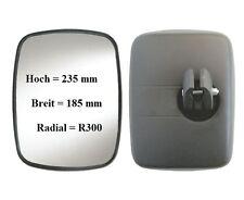 Außenspiegel Zusatz Anbau Spiegel Links oder Rechts 235x185 ø16-24 R300 12V 24V