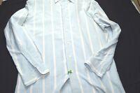 Ralph Lauren Light Blue Pink White Stripe Long Sleeve Button 16-33 Men's Shirt