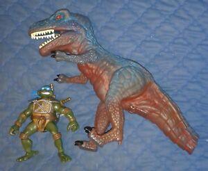 2004 ORIGINAL *** LEO vs T.REX SET ** TEENAGE MUTANT NINJA TURTLES TMNT