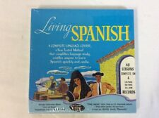 Living Spanish The Living Language Course 40 Lessons Complete on 4 Records New